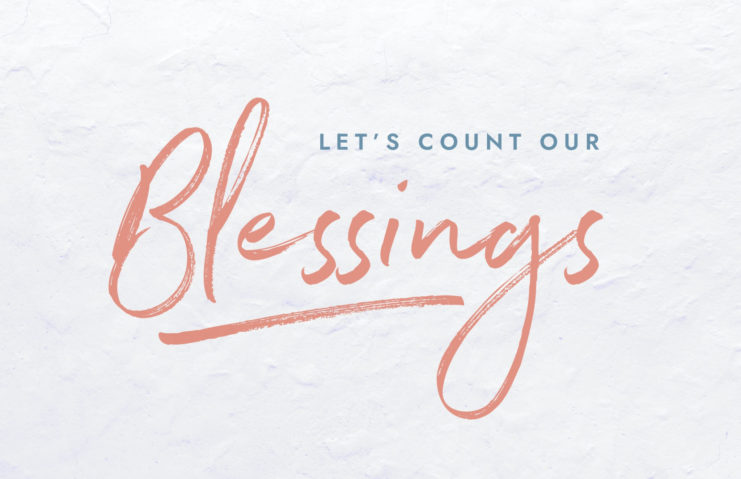 Count our blessings